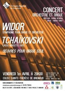 Affiche Brignoud Widor